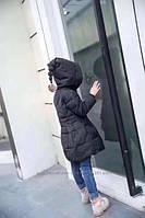 Натуральный пуховик для девочки. Еврозима. Куртка колокольчик.  Размеры 100-150., фото 1