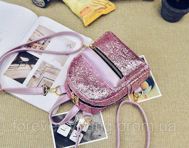 f554bf24cb06 Купить Рюкзак с блестками маленький розовый в Киеве от компании ...