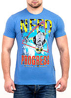 Стильная мужская футболка с принтом оптом и в розницу