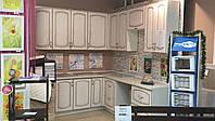 Кухня наборная, угловая 2100*2300 (фасад МДФ патинированный) с доводчиком