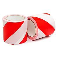 Лента оградительная 100 мм 100 м Украина красно-белая