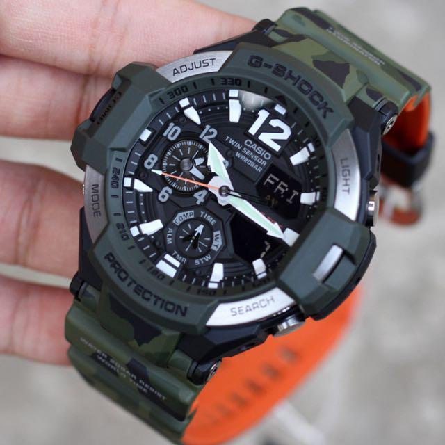 Часы Casio G-Shock GA-1100SC-3A Gravity Master Б.