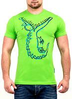 Яркая мужская футболка с принтом оптом и в розницу