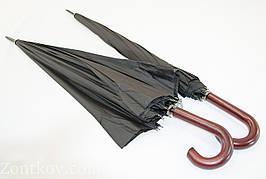 """Черный президентский зонт-трость на 16 спиц с куполом 133 см. от фирмы """"Susino"""""""