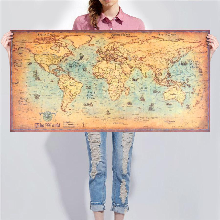 Политическая карта мира под старину!