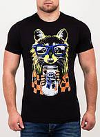 Модная мужская футболка с принтом от производителя