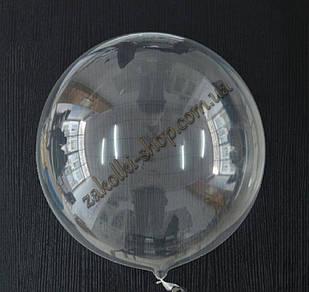 Прозрачный шар без рисунка Deco Bubble Bobo Baloons, материал: эластичный пластик(силикон), можно надувать гел