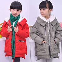 Зимний натуральный пуховик для девочки. Размеры 110-150., фото 1