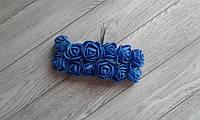 Роза з фоамірану - 2,2см синій