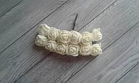 Роза з фоамірану - 2,2см молочний