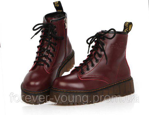 9c40b08a0eb8 Купить Ботинки женские копия Dr. Martens на платформе демисезон ...