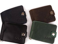 Кожаные зажимы для денег Kafa 10*8 (4 цвета)