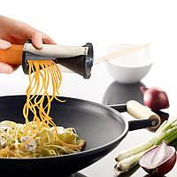 Нож для спиральной нарезки овощей и фруктов: желтый! Приспособление для нарезки по спирали! Спиральный нож!