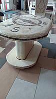 Стол журнальный из мраморной мозаики