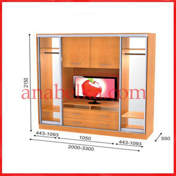 Шкаф купе ТВ-1  3200*550*2150  (Анабель)