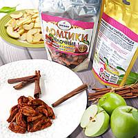 Натуральная конфета жевательная «Ломтики яблочные сушеные с корицей», 100 г
