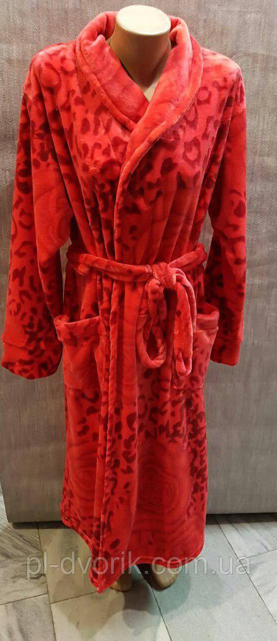 Женский махровый халат Роза на запах 🔹 Ткань - махра   Размеры