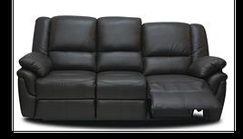 Кожаный диван реклайнер Alabama, диван реклайнер, мягкий диван, мебель из кожи, мягкая мебель