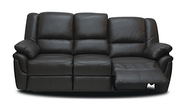 Шкіряний диван реклайнер Alabama, диван реклайнер, м'який диван, меблі з шкіри, м'які меблі