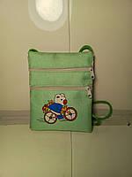 Детская салатовая сумочка через плечо