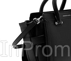 Сумка Charles Keith Black Structured Trapeze Bag, фото 3