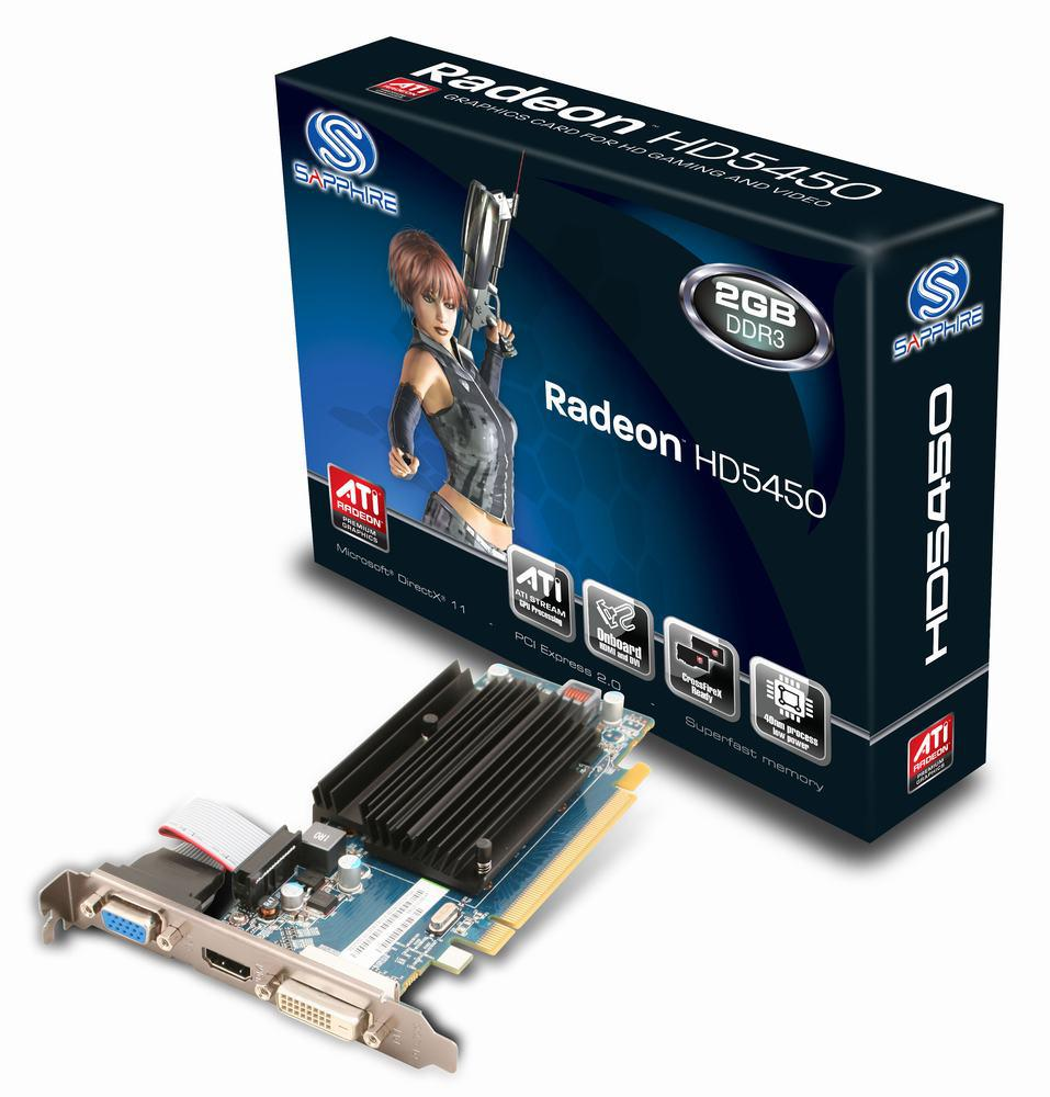 """Видеокарта Sapphire HD 5450 2 Гб DDR3 """"Over-Stock"""""""