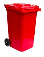 Контейнер для мусора 120 л ZTPE Красный