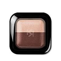 Двойные тени для использования в сухом и влажном виде Kiko Milano Bright Duo Baked Eyeshadow 02