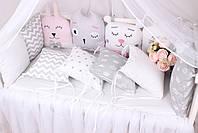 Комплект в кроватку с зверюшками, фото 8