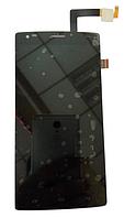 Оригинальный дисплей (модуль) + тачскрин (сенсор) для Fly IQ4505 Era Life 7 (черный цвет), фото 1