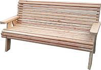 Лавка деревянная садово-парковая со спинкой № 1, фото 1