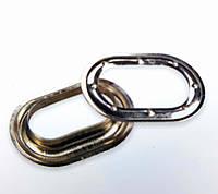 Кільце, Кольцо, Люверс 40х20мм овальное тентовая фурнитура для тентов, штор, палаток.