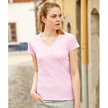 Женская футболка с V-образным вырезом Fruit of the Loom Арт.: 61398