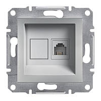 Розетка компьютерная 1XRJ45 экран schneider asfora EPH5000161