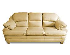 Розкладний шкіряний диван Sara, м'який диван, меблі з шкіри