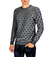 Серо-синий свитер мужской, джемпер EXPAND