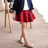 ТОЛЬКО ОПТ. Детская трикотажная юбка клеш с бусинками. Размеры с 2-х до 7-ми лет. Черный, 2