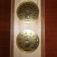 Термометр Гигрометр Барометр для сауны ТГС исп. 5, вертикальный для Бани для Сауны + ПОДАРОК
