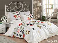 Комплект постельного белья евро Mariposa Satin Deluxe Бамбук Nuty V1