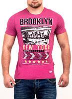 Яркая мужская футболка BROOKLYN оптом и в розницу