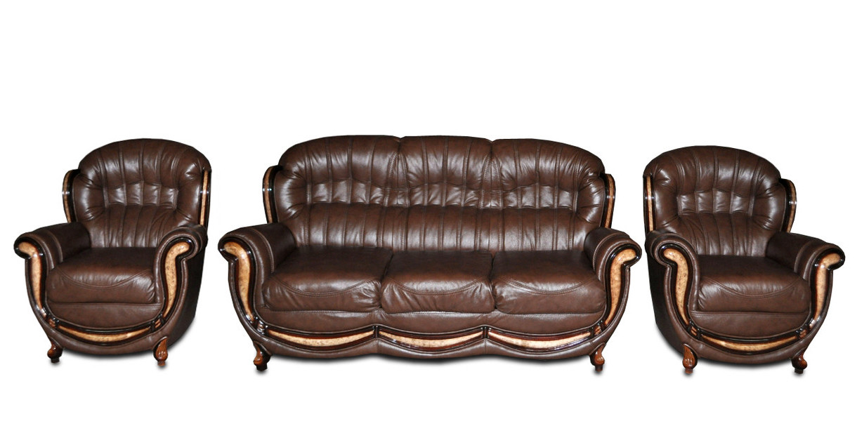 комплект мягкой кожаной мебели джове 311 Biglua