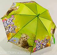 """Детский зонтик трость с кошкой на 4-8 лет от фирмы """"Swifts"""""""