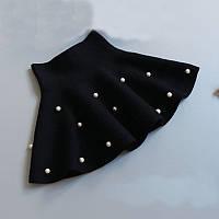 ТОЛЬКО ОПТ. Детская трикотажная юбка клеш с бусинками. Размеры с 2-х до 7-ми лет.