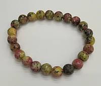 Браслет Яшма пестроцветно-крапчатая, натуральный камень
