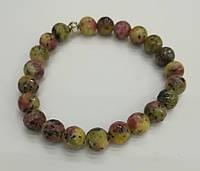 Браслет из натурального камня, Яшма пестроцветно-крапчатая