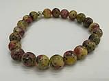 Браслет из натурального камня, Яшма пестроцветно-крапчатая, тм Satori \ Sb - 0101, фото 2