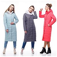 Демисезонное женское пальто в пол