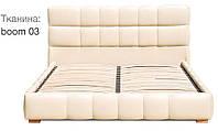 Кровать Престиж 160х200 двуспальная кожаная с мягким изголовьем  и подъемным механизмом