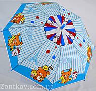 """Детский зонтик трость с мишками на 4-6 лет от фирмы """"Feeling Rain""""."""