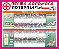 Информационный стенд травмы живота и груди